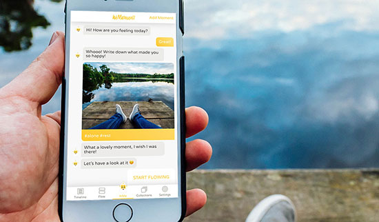 hiMoment: Journaling app develops algorithm for happiness